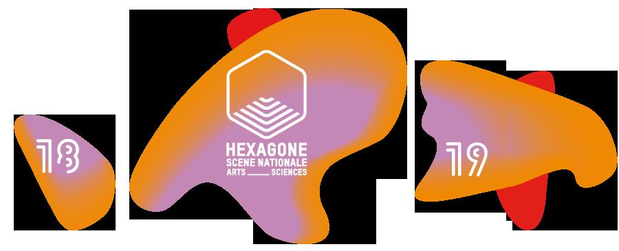 Théâtre Hexagone  saison 2018-2019 Logo